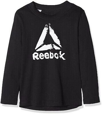Reebok Boys' B Elem Longsleeve Long-Sleeved t-Shrt, Black, S