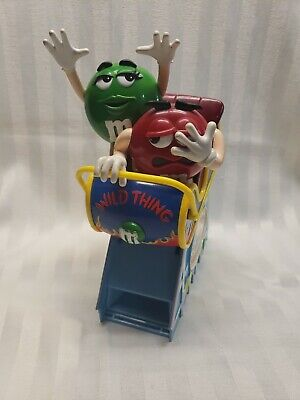 "M&M Wild Thing Roller Coaster Plastic Candy Dispenser 11"" M and M"