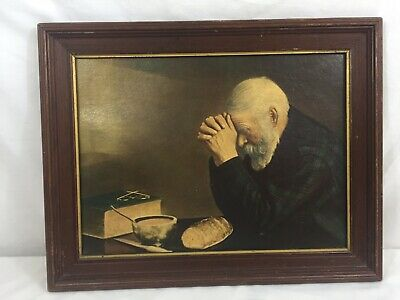 old man giving thanks Eric Enstrom GRACE 10x13 unframed mounted textured print
