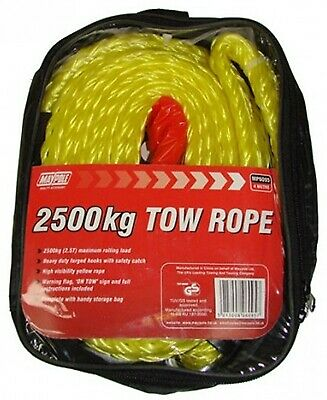 Tow Rope 4m X 2500kg Dp 6095 Maypole Genuine Top Quality Product New