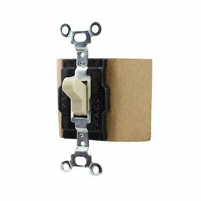 Pass & Seymour 1221-I Manual Controller, Double Throw, 1-P, 120/277V, Ivory
