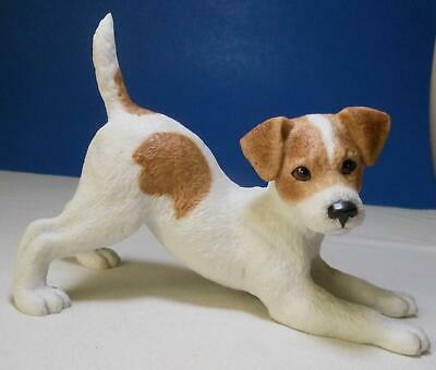 """Lenox Porcelain JACK RUSSELL TERRIER BREED PUPPY Limited ED 9"""" Long,  Mint"""