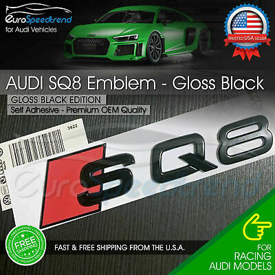 ZENCO For RS7 GLOSS BLACK LETTERS REAR Car Emblem Badge New High Quality 3D Vehicle Front Or Rear Logo Decoration Sticker Decal For Auto Vehicle Styling PACK OF 1
