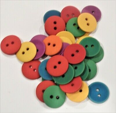 EMBELLISHMENT BUTTONS - Various Approx 50 per pack