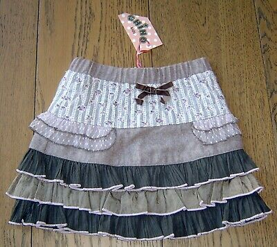 Chino Girls Tiered Skirt Sz 2 New With Tags