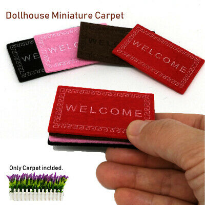 Dollhouse Miniature Carpet/Mat Floor Coverings for Dolls House Welcome Mat Rooms