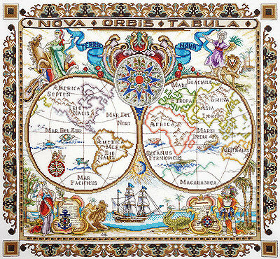 "Counted Cross Stitch Kit MARYA ISKUSNITSA (MARY WEAVER) 11.005.03 - ""World Map"""