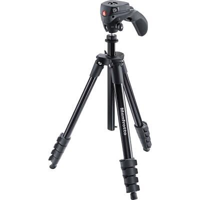 Manfrotto Compact Action Aluminum Tripod, Black #MKCOMPACTACN-BK