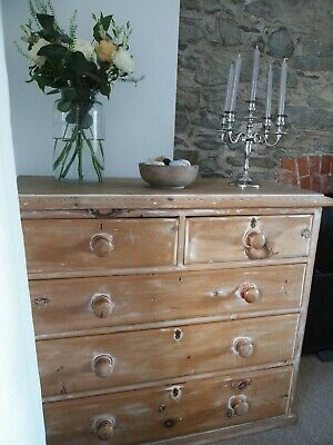 Beautiful Antique Victorian Pine Chest of Drawers