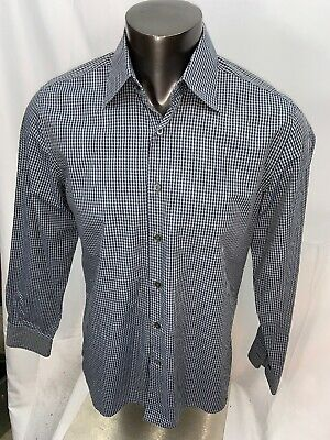Canali Men's Long Sleeve Casual Button Front Plaid Shirt Large Italy EUC