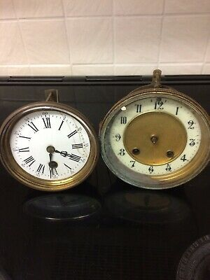 2 Antique French clock Movements Spares Or Repair