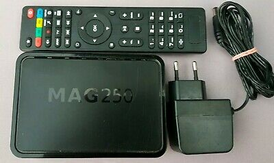 Mag250, (Genuine Infomir)  with Remote, and Power Adapter.