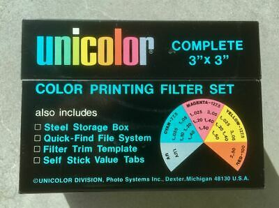 Unicolor Colour Printing Filter Set in Tin Box. Very nice condition.
