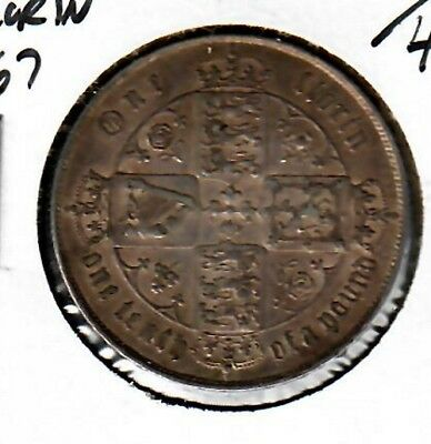 Great Britain Florin 1867 Choice XF