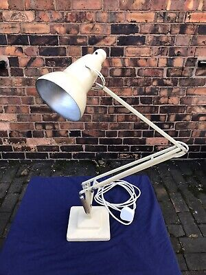 Vintage Herbert Terry 1227 Anglepoise Lamp, Cream, 2 Step Base, Fully Working