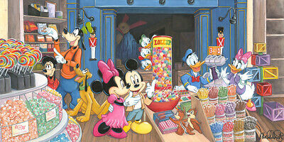 Disney Fine Art CANDY STORE By Michelle St. Laurent Limited Giclée on Canvas