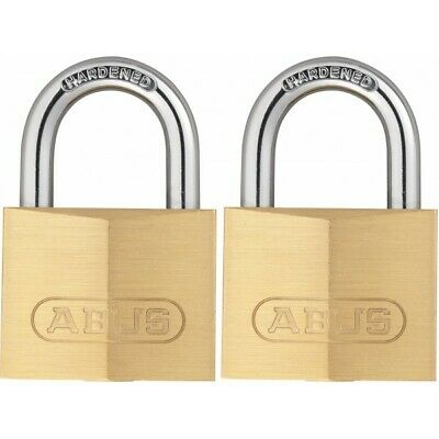 40mm Brass Padlock Keyed Alike Twinpack 713/40TWINSB ABUS Top Quality Product