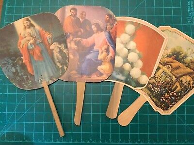 4 Vintage Advertising Fans Iowa Adel Perry Jefferson