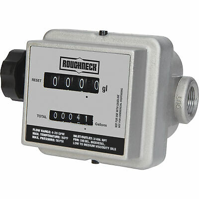 Roughneck Mechanical Fuel Meter - 4-20 GPM, 3/4in. Inlet/Outlet