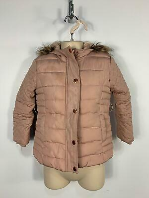 Girls Primark Pink Winter Casual Padded Hood School Coat Jacket Kids Age 4/5 Yrs