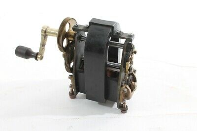 Old Hand Crank Generator Vintage Model Telephone Crank Electric Motor