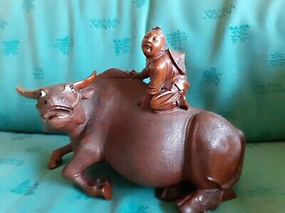 Antique Chinese wooden water buffalo