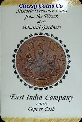 1808 Admiral Gardner Shipwreck 186 Year-Old 10 Cash Coin East India☆☆Display 220