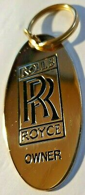 Gold Rolls Royce Keyring Plated with 22ct Made in England Oxford Range