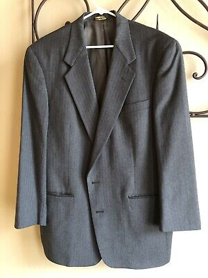 Austin Reed London Men's 2 Bttn Wool Blazer Sport Coat Jacket Gray 44R