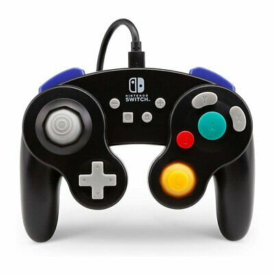PowerA Gamecube Style Wired Controller for Nintendo Switch Black NEW