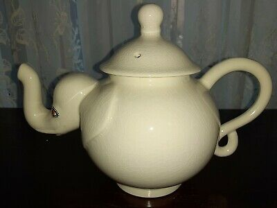 Carlton Ware White Elephant Teapot Excellent Condition