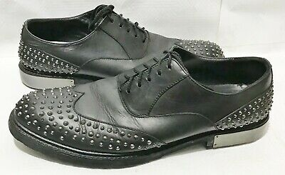 Kenneth Cole Collection Black Leather Studded Shoes Size  10.5