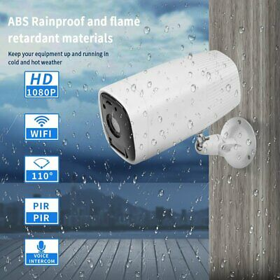A-ZONE Wireless 1080P HD IP Camera CCTV Outdoor Security Battery Powered Camera