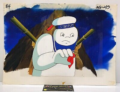 Vintage 1980's Ghostbusters Animation Production Cel STAYPUFT MarshMallow Man