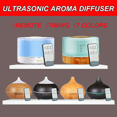 Remote Aromatherapy Diffuser Aroma Essential Oil Ultrasonic Air Humidifier Mist