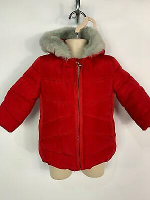 Girls Next Baby Red Winter Casual Padded Hood Raincoat Jacket Kids Age 3/6 Month