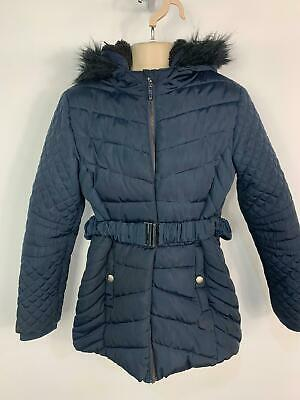Girls Primark Dark Blue Winter Padded School Raincoat Jacket Kids Age 10 Years