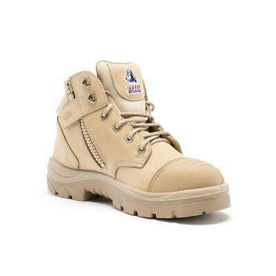 STEEL BLUE PARKES ZIP SAND BUMPCAP S3 - Australian Zipped Safety Boot - UK Stock