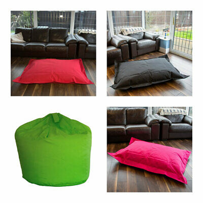 Outdoor Bean Bag Water Resistant Beanbag Chair Cushion Gaming Lounger Adult Kids