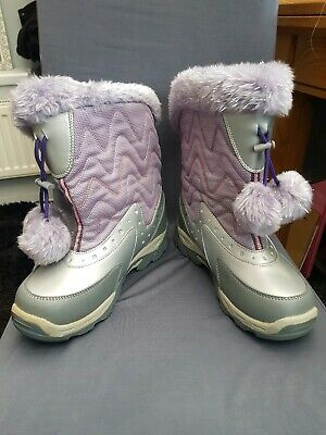 Girls Size 2 Hi-tech Snowboots Pink Pompom New With Defects winter holiday  kids