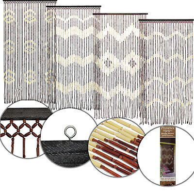 Bamboo Wooden Hanging Beaded Door Curtain Screen Insect Hanging Summer Blind New