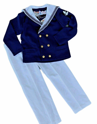 Vintage BNWT Boy's Sailor Suit Age 6 -7  Approx Page Boy Wedding / b25