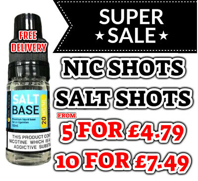 Nicotine Shots 10ml 18mg/ml By NicDrops Nic Shots 70%VG - Premium UK made - TPD
