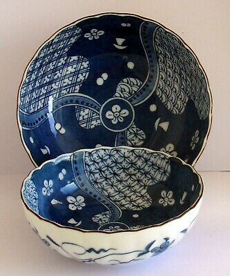 A Matching  Pair Of Signed  Oriental Bowls In Two Sizes