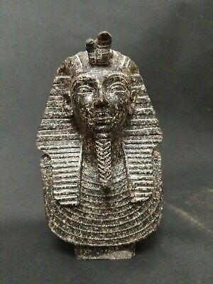 Antique Statue Rare Ancient Egyptian Pharaonic The head of King Tutankhamun. Bc