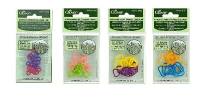 Medium Multicoloured Clover Stitch Markers Triangle Other