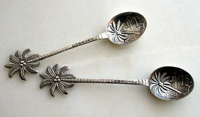 Spritzer & Fuhrmann Pair of Ornate Silver Curacao Tea Spoons in Original Box
