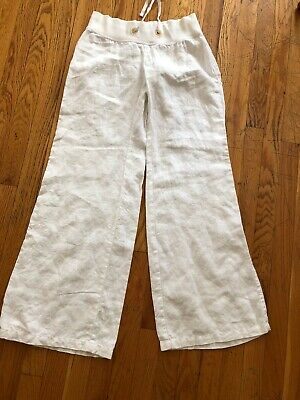 Lilly Pulitzer Women's White Beach Lounge Wide Legs Pants Size XS