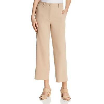 Theory Womens Tan Crepe High Rise Wear to Work Cropped Pants 2 BHFO 7949