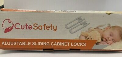 CUTESAFETY Sliding Cabinet Locks - Baby Proofing Cabinets - 10 Pack